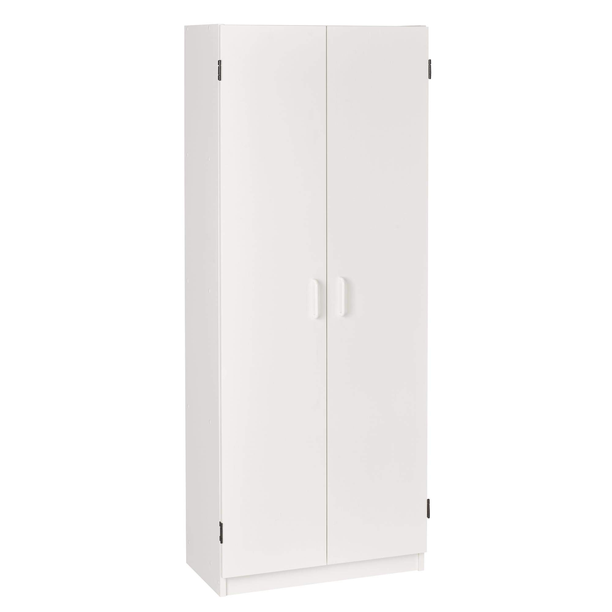 System Build Flynn Wooden Storage Cabinet, White by Ameriwood Home