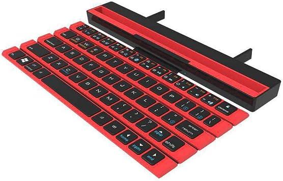 SCKL Teclado Inalámbrico Plegable Rodillo 64 Claves del ...