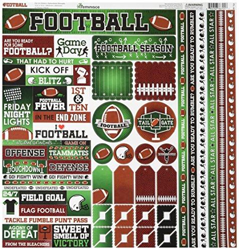 - Reminisce FTL-100 Football Cardstock Sticker, 12