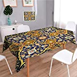SCOCICI1588 Linen Square Tablecloth Arabic Islamic s Oriental Persian Washable Table cloth Dinner Kitchen Home Decor-W50 x L102