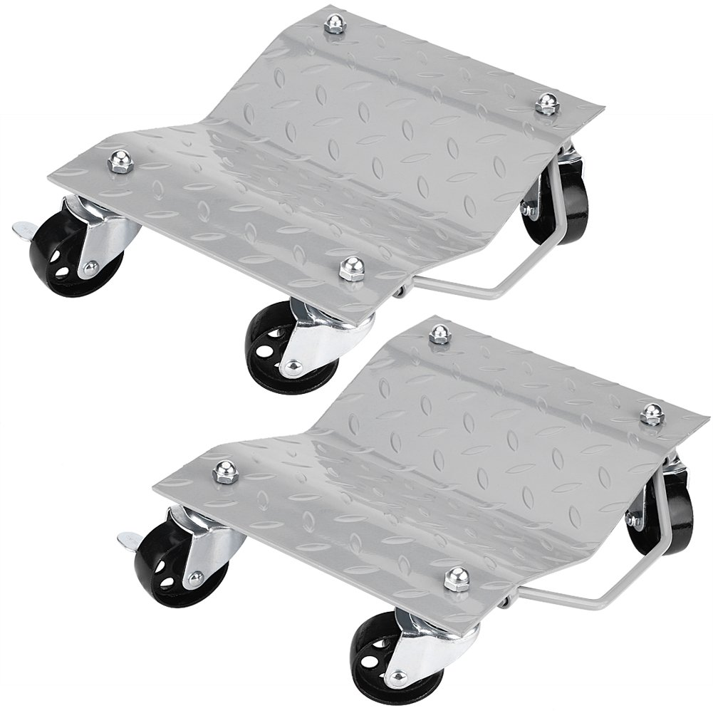Wheel Dolly,2 PCS Tire Skates Wheel Car Dolly Ball Bearings Auto Repair Moving Diamond Rated at 1500lbs Each For Cars, Boats, Tractors