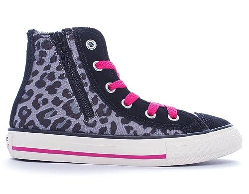 ebc97c7fa Converse E4084 Sneaker Bimba Scarpe Grigio/Nero maculato Shoe Kid Girl  [22]: Amazon.it: Scarpe e borse