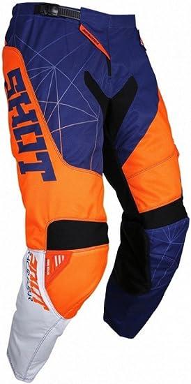 30 Blue//Neon Orange Shot Devo Mens Off-Road Motorcycle Pants