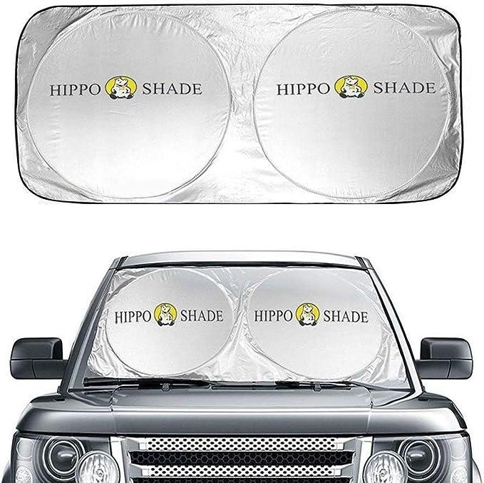 Hippo Sonnenschutz Auto Sommer Sonnenblende Frontscheibe Für Suvs Lkws Und Autos Mit Uv Schutz Sonnenschirm Nylon Größe Oder Silber 35 X63 3 160 X 90 Cm Auto