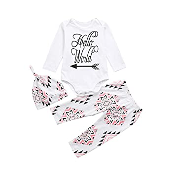 Jchen TM Toddler Kids Baby Girl Star Print Long Sleeve Shirt Denim Pants 2Pcs Outfits Clothes Set For 0-6 Years Old