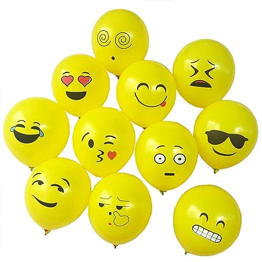 YOOKOON - Globos de Helio Emoji para Fiesta de cumpleaños ...