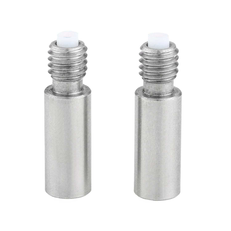 2 Pcs Edelstahl Düsenhals Nozzle Throat für 3D Drucker Extruder 1.75 mm mit Teflonrohr