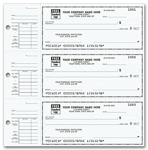 Check Binder For End-Stub Deskbook Checks, 3 Ring Binder (Black) Check Cover ~Hold 250 checks~