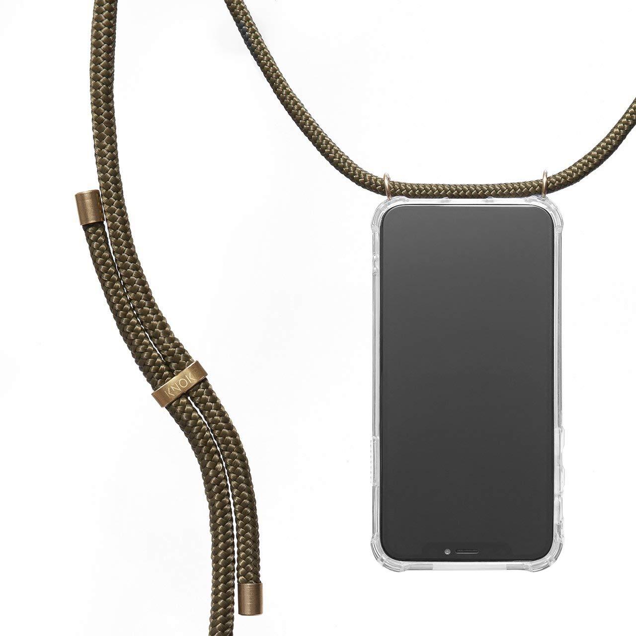 KNOK Case Carcasa de movil con Cuerda para Colgar iPhone 11 Pro con Cordon para Llevar en el Cuello Hecho a Mano en Berlin Funda para iPhone//Samsung//Huawei con Correa Colgante