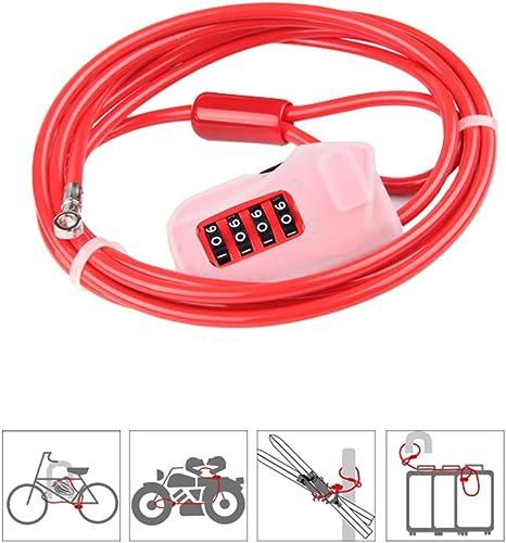 Cerradura de bicicleta de 4 dígitos con contraseña - Cable de ...