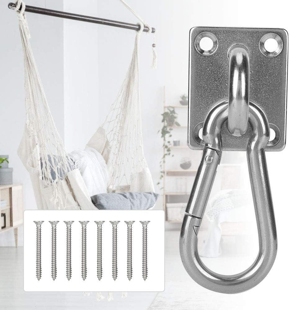 SOONHUA Stainless Steel Ceiling Hook Roof Mount Yoga Hanging Plate Ring Hammock Sandbags Hooks for Home Courtyard Swing Frame Hooks