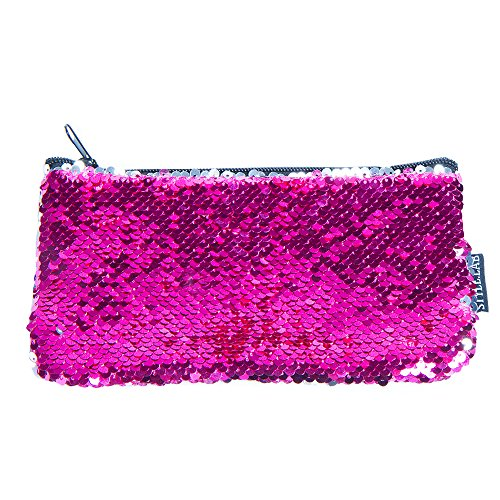 Style.Lab by Fashion Angels Magic Mini Sequin Pouch - Neon Pink/Silver