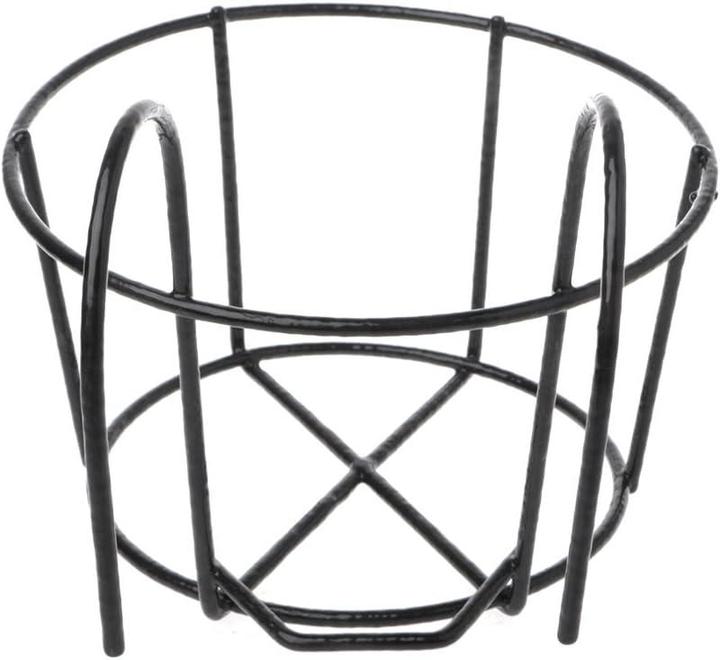 Youlin Support de Pot de Plantes,Fer,avec des Crochets,Rond Balcon /Étag/ère Ext/érieure Pot de Fleur,pour Maison Garde-Corps De Jardin Blanc