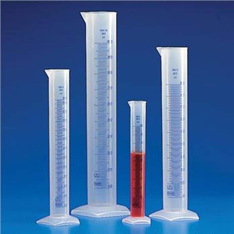 2000mL Capacity Blue Printed Graduations Globe Scientific 602567-1 Polypropylene Graduated Cylinder