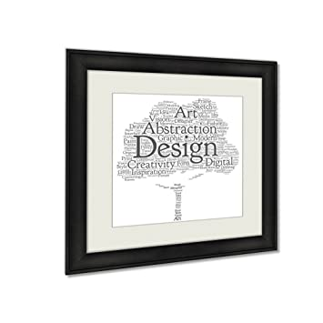Ashley framed prints concept or conceptual creativity art graphic design tree word cloud isolated on