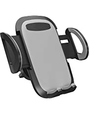 Car Phone holder Car Mount Holder, Four-sided soft rubber 3-Level Adjustable Phone Holder Compatible with iPhone 11 Pro XS XR X 8 7 6Plus Samsung Galaxy S9 S8 S7 S6 Note9, Google Pixel LG Nexus Nokia Moto and More by TianYi