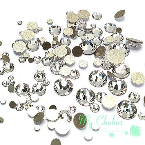 Crystal-Wholesale Swarovski Clear CRYSTAL (001) 2058/2088 Crystal Fatbacks Rhinestones Nail Art Mixed With Sizes Ss5, Ss7, Ss9, Ss12, Ss16, Ss20, Ss30, 144 Piece by Crystal-Wholesale