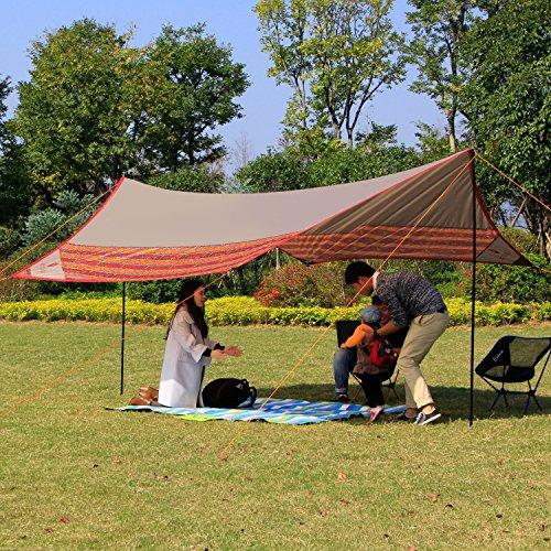Construction Tarp Shelters : Wolfwise tarp shelter sunshade canopy waterproof