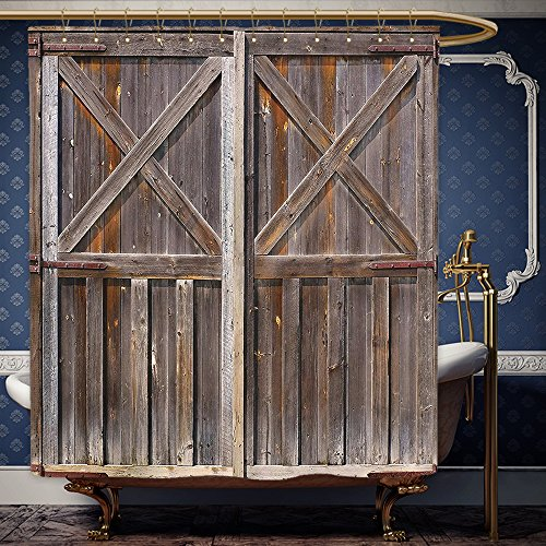 Wanranhome Custom-made shower curtain Rustic Old Wooden Barn Door of Farmhouse Oak Countryside Village Board Rural Life Photo Print Decor Brown For Bathroom Decoration 36 x 72 - Thousand Oaks Nordstrom