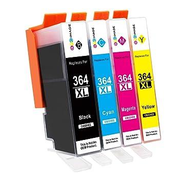 GPC Image Cartuchos de Tinta Compatible para HP 364 364XL (Negro/Cian/Magenta/Amarillo) para HP Deskjet 3070A, Photosmart 5510 5515 5520 5522 5524 ...