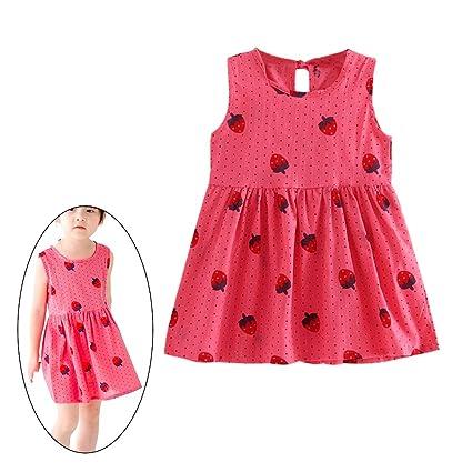 Amazon Com Little Baby Girls Dress Holiday Summer Flower Sleeveless