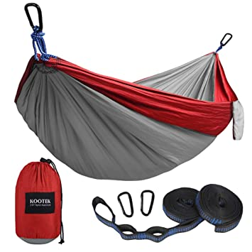 Wondrous Kootek Camping Hammock Portable Indoor Outdoor Tree Hammock With 2 Hanging Straps Lightweight Nylon Parachute Hammocks For Backpacking Travel Download Free Architecture Designs Itiscsunscenecom
