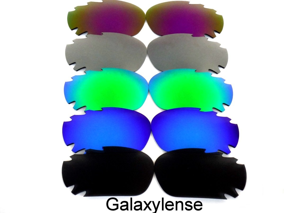 Galaxy Replacement Lenses for Oakley Racing Jacket Black&Blue&Green&Gray&Purple Color Polarized 5 Pairs,FREE S&H.