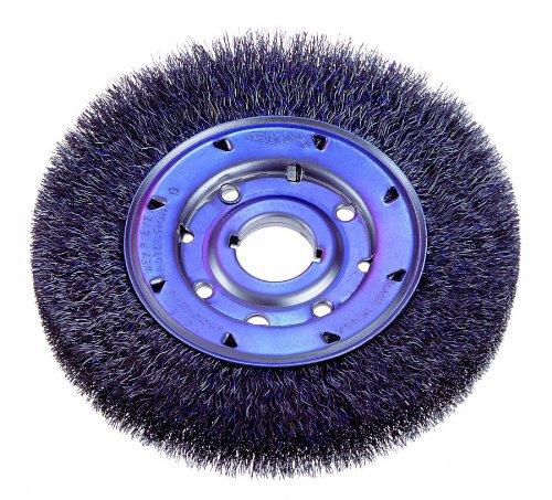 3600 RPM 0.020 Fill Diameter 10 Diameter Osborn 22114 Crimped Wire Medium Face Wheel Brush Steel Bristle