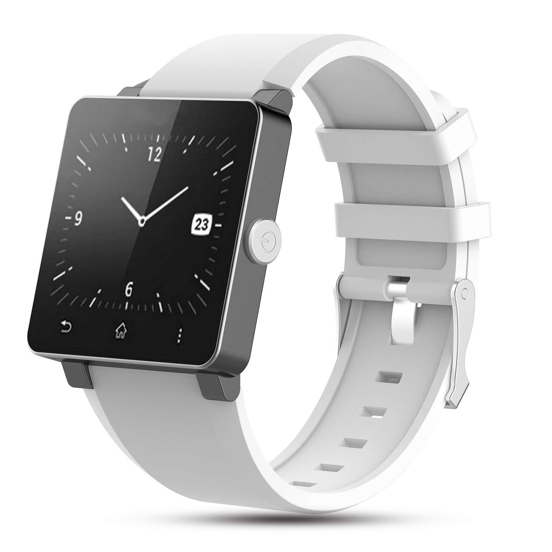 Zeehar - Correa de Silicona Suave de Repuesto para Reloj Inteligente Sony Smartwatch 2 SW2, Blanco, 5.5