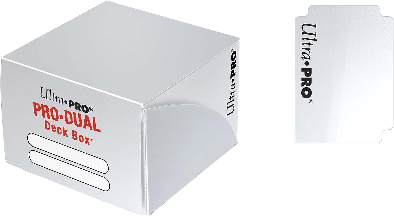 Ultra Pro – Juego de Cartas Deckbox Pro Dual C30 (Blanco): Amazon.es: Juguetes y juegos