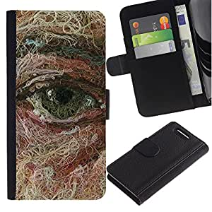 iKiki Tech / Cartera Funda Carcasa - Face Art Painting Deep Meaning - Sony Xperia Z1 Compact D5503