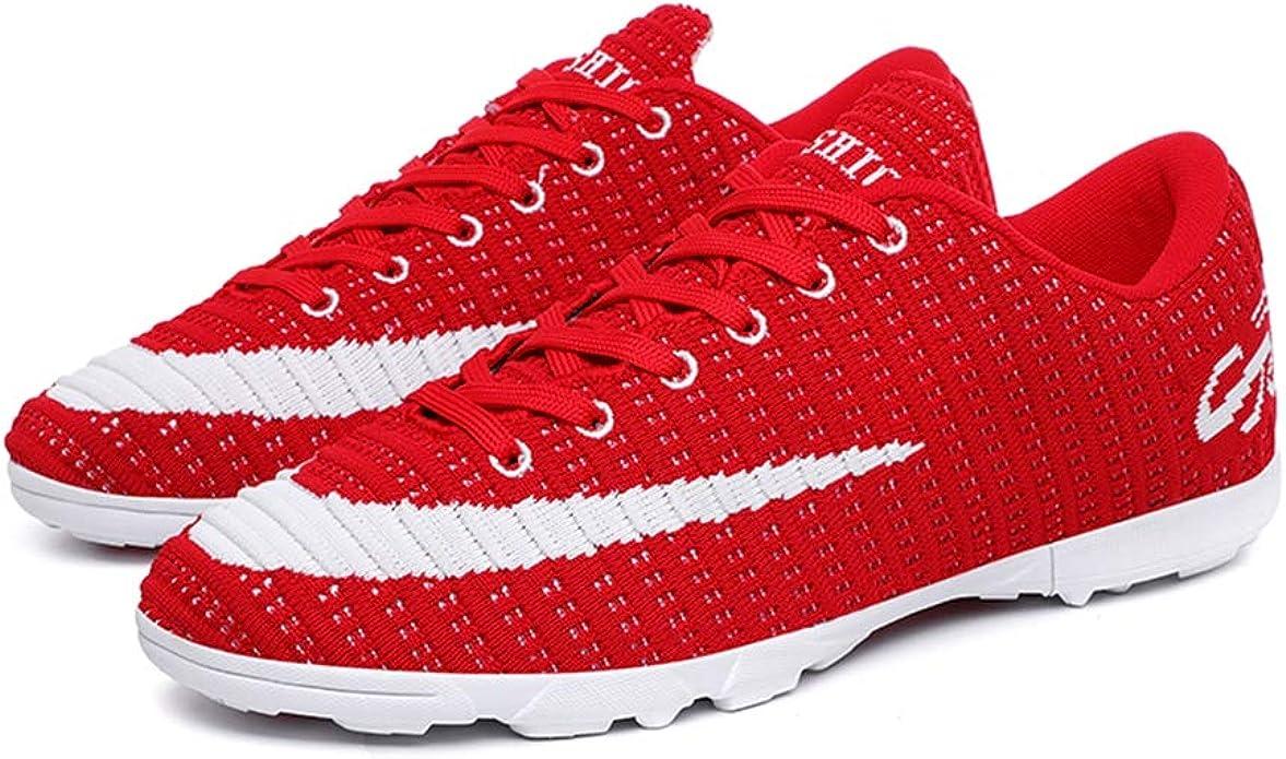 LYLZR Football Bottes Hommes d int/érieur Chaussures de Soccer pour Enfants Turf Crampons Sport Mesh Chaussures de Sport de Formation