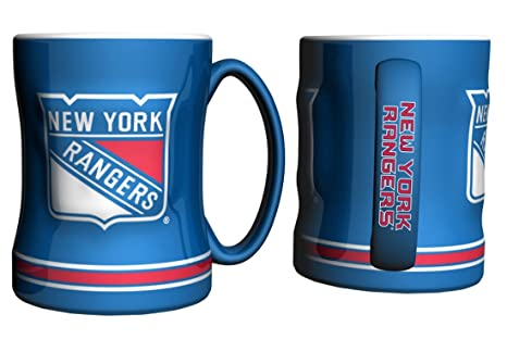 9736267de9d Amazon.com : New York Rangers Coffee Mug - 14oz Sculpted Relief by ...