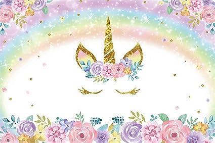 Leowefowa 10 x 8 pies cuento de hadas arcoíris unicornio ...