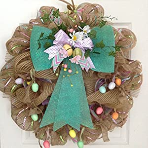 Easter Egg Garland Deco Mesh Wreath 7