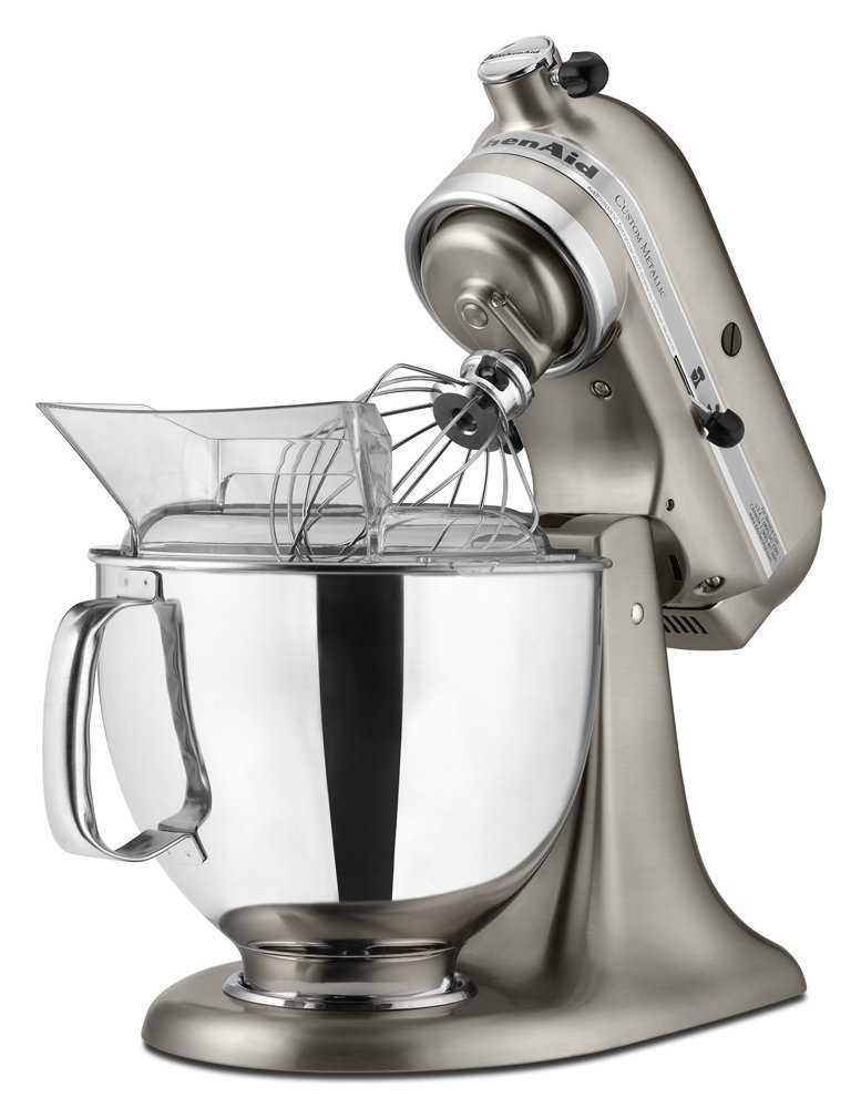Amazon.com: KitchenAid KSM152PSNK 5 Qt. Custom Metallic Series With Pouring  Shield   Brushed Nickel: Electric Stand Mixers: Kitchen U0026 Dining