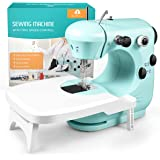 Sewing Machine, Mini Sewing Machine for Beginner with Eco-Friendly Material, Dual Speed Portable Sewing Machine with Extensio
