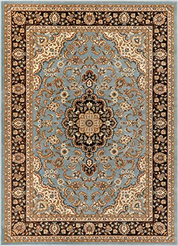 Noble Medallion Light Blue Persian Floral Oriental Formal Traditional Area Rug 3x5 4x6 ( 3'11