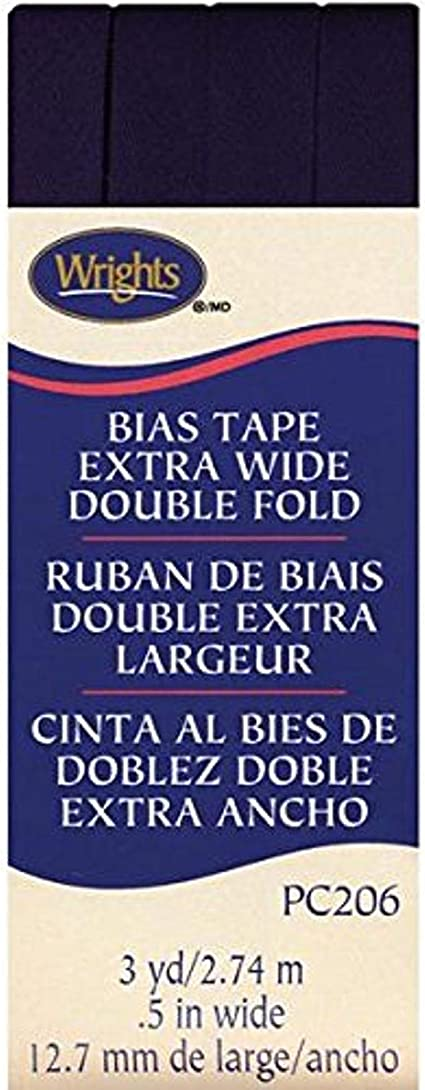 Wrights 117-706-045 Double Fold Quilt Binding Bias Tape 3-Yard Light Gray Renewed