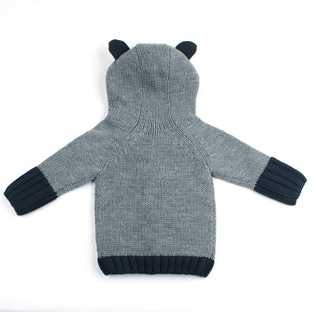 Toddler Boys Girls Hoodies Jacket Coat Infant Warm Outfit Cartoon Overall Exemaba Hooded Cardigan Sweater for Baby
