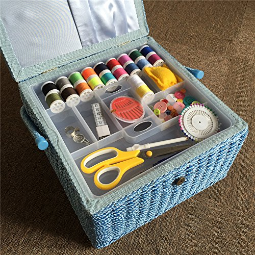 Saxtx 100 Handmade Extra Large Sewing Basket With 107 Pcs