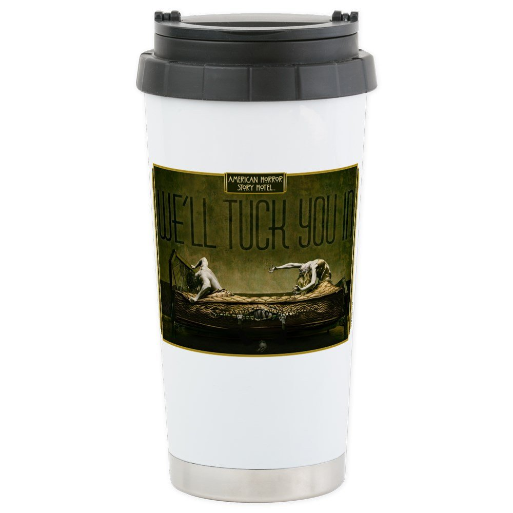 CafePress - AHS Hotel We'll Tuck Yo Stainless Steel Travel Mug - Stainless Steel Travel Mug, Insulated 16 oz. Coffee Tumbler