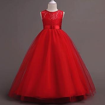 1e2ba0c2b GHTWJJ Vestidos De Noche De Niña Vestido De Fiesta De Princesa De Boda para  Niña Vestido