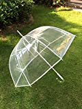 FiveMax 50 Inch Clear Bubble Umbrella (White)