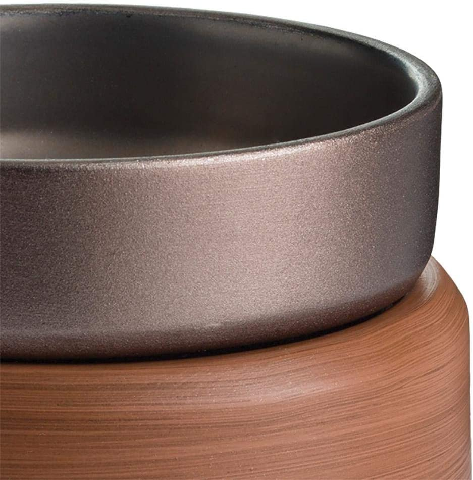 Toucan City LED Flashlight and Candle Warmers Etc 5.2 in Pewter Walnut 2-in-1 Classic Fragrance Warmer CWDPWN