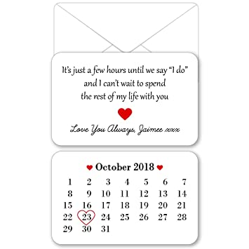 Personalised Sentimental Keepsake Double Sided Husband/Wife to be Wedding  Morning Metal Wallet Card Gift Present