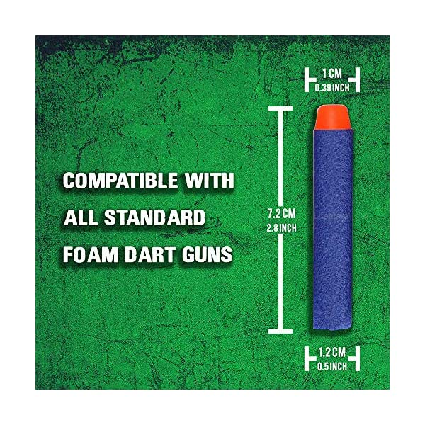 Ray-Squad-Nerf-Compatible-Foam-Toy-Darts-300-Pack-Premium-Refill-Bullets-for-N-Strike-Guns-Universal-Dart-Bullet-Pack-Firm-and-Safe-Nerf-Gun-Compatible-Ammo-Accessories