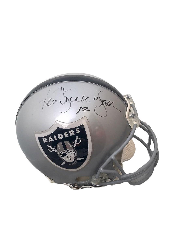 size 40 b10df d5a7b Amazon.com: Ken Stabler Autographed Helmet - Snake Full Size ...