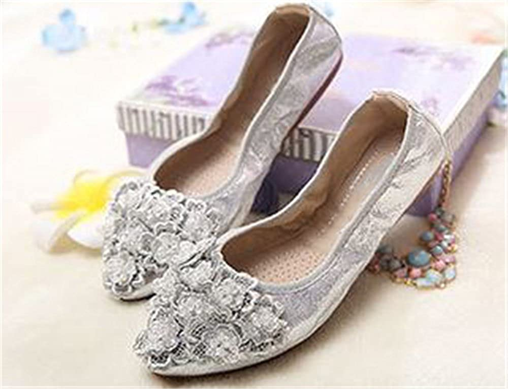 Women Pointed Toe Foldable Soft Flats Shoe