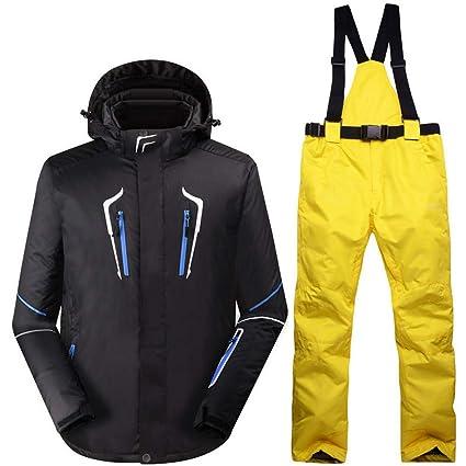 Zjsjacket Chaqueta de Esqui Hombre Negro Ropa de Nieve ...